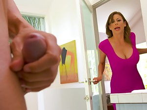 Spotting her son's friend masturbating in set upon e set one's sights on