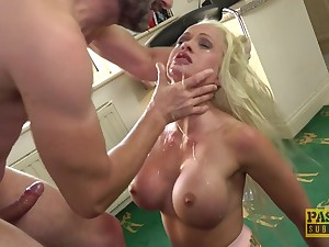 silicone blonde Cindy Sun adores when her lover cum on her complexion
