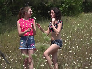 picnic in the abandoned nature is lesbian sex adventure be useful to horn-mad Vika Lita